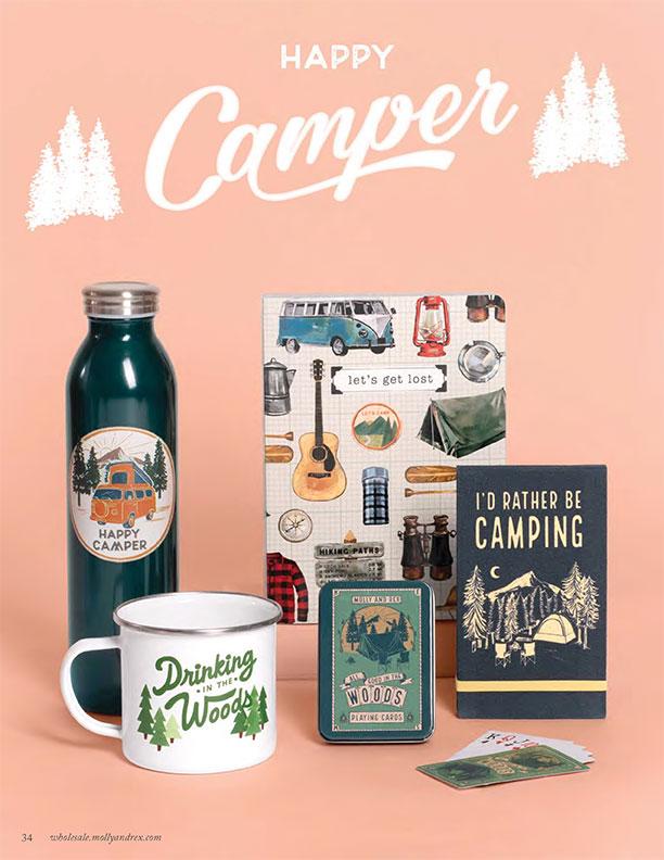and! Sales Molly & Rex Happy Camper Atlanta Mart